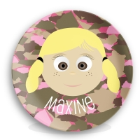 Personalized Girls Melamine Face Plate - Maxine