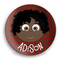 "Personalized Boys 10"" Melamine Face Plate - Adison"