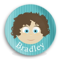 "Personalized Boys 10"" Melamine Face Plate - Bradley"