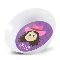 Personalized Girls Melamine Faces Bowl- Taylor Bowl