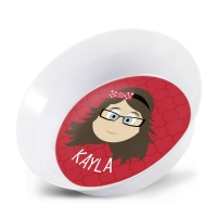Personalized Girls Melamine Faces Bowl- Kayla Personalized Melamine Dishes