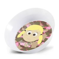 Personalized Girls Melamine Faces Bowl- Maxine Personalized Melamine Bowl