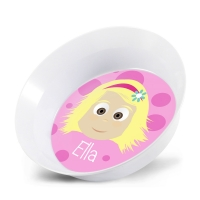 Personalized Girls Melamine Faces Bowl- Ella Personalized Kids Dishes