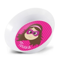 Personalized Girls Melamine Faces Bowl- Teresa Girl Bowl