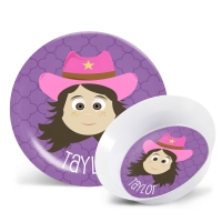 Personalized Girls Melamine Face Plate