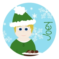 Cookies for Santa - Little Me Boys Personalized Plate