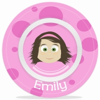 Little Me Girls Personalized Microwave Safe Bowl