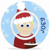 Cookies For Santa Little Me Boys Personalized Christmas Bowl Microwave Safe