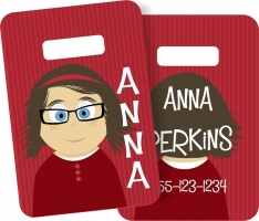 Little Me Girls Monogrammed Bag Tag - Design Your Own Anna