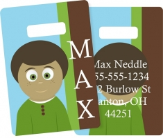 Little Me Boys Monogrammed Bag Tag - Design Your Own Max