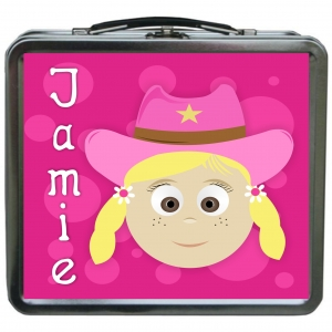 Little Me Girls {Metal} Personalized Lunchbox - Design Your Own Jami