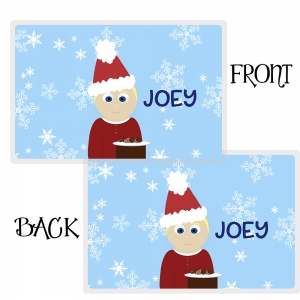Cookies for Santa - Little Me Boys Personalized Placemat