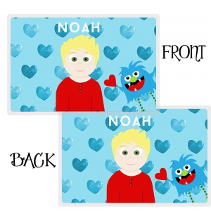 Little Me Boys Personalized Valentine Placemat