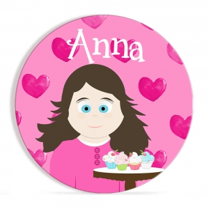 Be My Valentine - Little Me Girls Personalized Valentine Plate