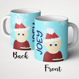 Personalized Cookies for Santa Little Me Boys Mug