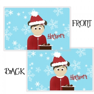 Personalized Christmas Placemat Cookies For Santa