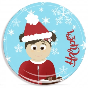 Little Me Girls Personalized Christmas Microwave Safe Plate