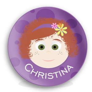 Personalized Girls Melamine Plate - Christina
