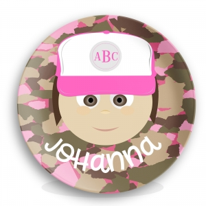 Personalized Girls Melamine Plate - Johanna