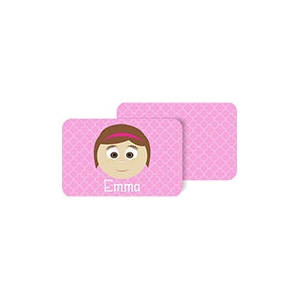 Personalized Girls Placemat - Emma Pm7 Personalized Placemat For Kids