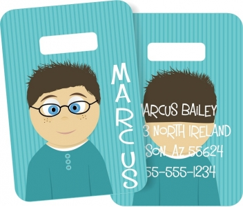 Little Me Boys Monogrammed Bag Tag - Design Your Own Marcus