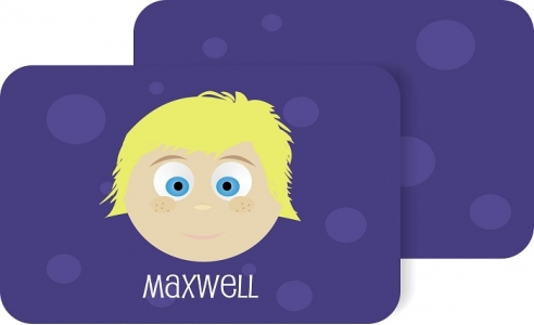 Personalized Boys Placemat - Maxwell Pm5 Personalized Kids Placemats